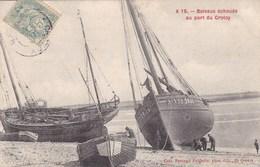Somme - Bateaux échoués Au Port De Crotoy - Le Crotoy