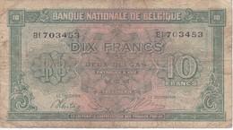 BILLETE DE BELGICA DE 10 FRANCS DEL 01-02-1943  (BANK NOTE) - [ 2] 1831-... : Koninkrijk België