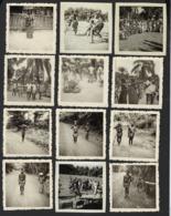 CONGO BELGE * BELGISCH CONGO * AKETI * 1955 +- * PLAATSELIJKE BEVOLKING * POPULATION LOCAL * 12 PHOTOS * 6 X 6 CM - Afrika