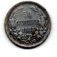 Bulgarie  - 50 Stotinki  1883 -  état  TB - Bulgarie
