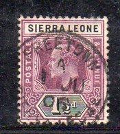APR2007 - SIERRA LEONE 1904 , Yvert N. 64 Usato Fil MultiCA (2380A) - Sierra Leone (...-1960)