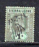 APR2507 - SIERRA LEONE 1904 , Yvert N. 71 Usato Fil MultiCA (2380A) Poco Fresco Punti Di Colore Al Retro - Sierra Leone (...-1960)