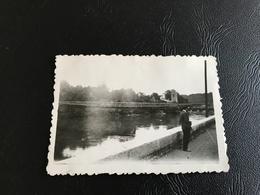 PHOTO - LYON 1930/31 - Passerelle De L'Ile Barbe Vue Du Quai Clemenceau - Plaatsen