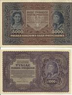2 Billets ,1000 Et 5000 Marek Pologne 1919 Et 1920 . SUP +. - Pologne