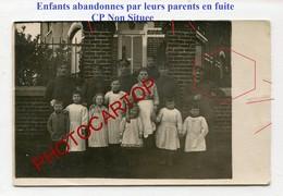 ENFANT Abandonnes Pendant La GUERRE-Parents En Fuite-NON SITUEE-CARTE PHOTO  Allemande-Guerre 14-18-1 WK-Militaria- - Guerre 1914-18