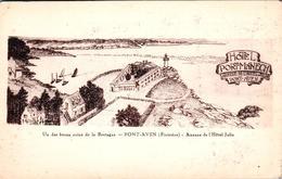 Carte 1915 PONT AVEN / ANNEXE DE L'HOTEL JULIA - HOTEL PORT MANECH - Pont Aven