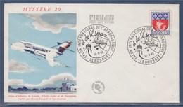 = Salon International Aéronautique Le Bourget 12.6.65 Timbre 1354B Paris Illustration Mystère 20 - Postmark Collection (Covers)