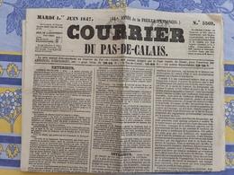 Journal Le Courrier Du Pas De Calais Du 1er Juin  1847 L'afrique Française - 1800 - 1849