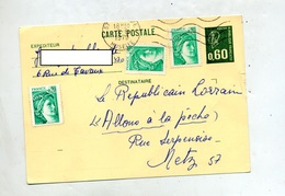 Carte Postale 0.60 Bequet Flamme Muette - Postal Stamped Stationery