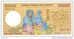 COMOROS P. 14 10000 F 1997 UNC - Comores