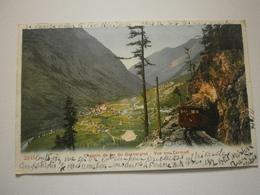 Suisse. Chemin De Fer Du  Gornergrat, Vue Sur Zermatt (8531) - VS Wallis