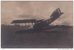 IS24-  AVIATION - CARTE PHOTO - ACCIDENT D'AVION POTEZ  K6   - (N°1 - 2 SCANS) - 1919-1938: Entre Guerres