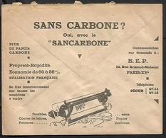 Cheque Cover France,Rouen,chèques Postaux.CCP.Postes Telegraphes Et Telephones,carbon Paper,typewriter - Publicités