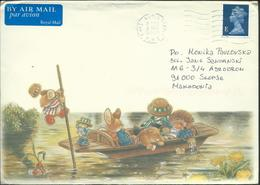 Great Britain Illustrated Envelope PAR AVION Via Macedonia 2000 - 1952-.... (Elizabeth II)