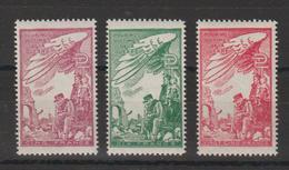 France 1945 Timbre De Bienfaisance PTT 39-41 3 Val ** MNH - Erinnofilia
