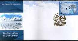 India 2019 Siachen Glacie 1v FDC - Other