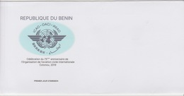 Bénin 2019 Mi. ? Joint Issue Emission Commune ICAO OACI Cotonou Map Civil Aviation Civile FDC - Joint Issues
