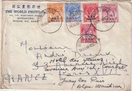 """MALAYSIE : DE """" SINGAPOUR """" . POUR LA FRANCE . 1948 . - Great Britain (former Colonies & Protectorates)"""