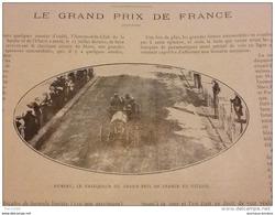 1911 AUTOMOBILE GRAND PRIX DE FRANCE HEMERY VOITURE FIAT / MAURICE FOURNIER / V HORSE SHOW DE SAUMUR / CHASSE EN ETANG - Books, Magazines, Comics