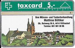 Switzerland: PTT K-91/106A 111E Basler Münzenmesse - Matthias Büttiker - Svizzera