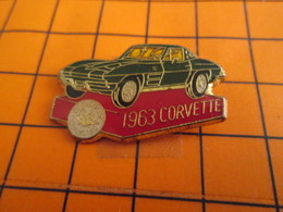 320 Pin's Pins / Belle Qualité Et Rare / THEME AUTOMOBILES : CHEVROLET CORVETTE VERTE DE 1963 - Corvette