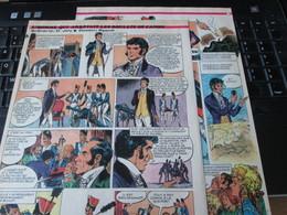 SPI2020 3 Feuilles 4 Ou 5 Pages / Les Plus Belles Histoires De L'Oncle Paul : L'HOMME QUI ARRETAIT LES BOULETS DE CANON - Otros Objetos De Cómics