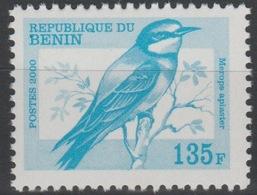 Bénin 2000 Mi. I1232 135 F Fauna Faune Bird Oiseau Vogel Merops Apiaster MNH** Rare - Bénin – Dahomey (1960-...)