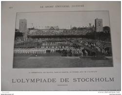 1912 OLYMPIADE DE STOCKHOLM ROI DE SUEDE / CHIENS DRESSAGE AU COLLIER DE FORCE / REGATE DE KIEL / TOUR EIFFEL - Books, Magazines, Comics