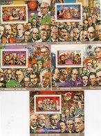 Lot De 7 Blocs Feuillets  , Série Prix Nobel ( 2 Non Dentelés) 1er Lot - Komoren (1975-...)