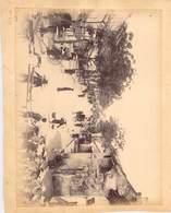 2 PHOTOS INDOCHINE (collées Recto Verso Sur Support Papier) - Places