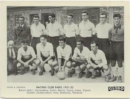 EQUIPE Du RACING CLUB PARIS  1951/52  Et  RACING/LENS  2 PHOTOS    Format  12/9 - Voetbal