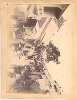 2 PHOTOS INDOCHINE (collées Recto Verso Sur Support Papier) - Lieux