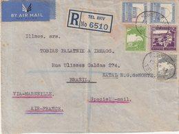 PALESTINE : PA . REC . VIA AIR FRANCE . POUR NATAL , BRESIL . 1937 . - Palestine