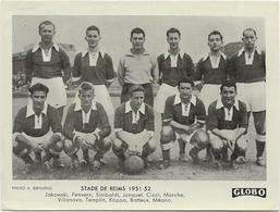 EQUIPE Du STADE De REIMS  1951/52  Et  FRANCE  YOUGOSLAVIE    2 PHOTOS    Format  12/9 - Voetbal