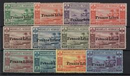 !!! PRIX FIXE : NOUVELLES HEBRIDES, SERIE N°124/135 NEUVE SANS CHARNIERE, ROUSSEURS LEGERES, N°132/135 GRAND LUXE - Ungebraucht