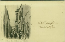 AFRICA - TUNISIA - TUNIS - RUE SIDI BEN AROUS - EDIT D'AMICO - MAILED TO ITALY 1900s ( BG7633) - Túnez