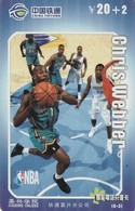 TARJETA TELEFONICA DE CHINA. BASKETBALL. NBA, CHRIS WEBBER. (759) - Sport