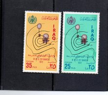 """Iraq - 2 Timbres Neufs """" World Meteorological Day """" - Iran"""