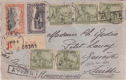 """CONGO BELGE : PA . REC . DE """" LUBEO ( KASAI ) """" . POUR GENEVE . 1929 . - Belgisch-Kongo"""