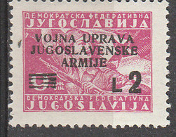 PIA - JUGOSLAVIA -  Amministrazione Militare Jugoslava - (Yv 2) - 1945-1992 République Fédérative Populaire De Yougoslavie