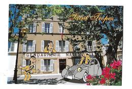 83-----SAINT-TROPEZ--HUMOUR----( Voiture 2CV + Gendarmes  + Gendarmerie )--voir 2 Scans - Saint-Tropez