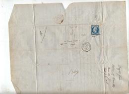 Lettre Cachet Losange Limoges à Parissur Napoleon + ? - Marcophilie (Lettres)
