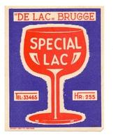 Etiket Etiquette - Bier - Bière - Special Lac - Brouwerij De Lac - Brugge - Birra
