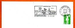 13 ST MARTIN DE CRAU  PROTEGEONS LA CRAU  1991 L Ettre Entière N° CD 330 - Storia Postale