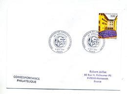Lettre Cachet  Paris Federation Jumelage Europe - Storia Postale