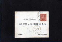 CG10 - Cartolina Postale Da Legnano 12/4/1895 Per Tavernerio .- Bollo Di Transito Albese 13/4/1895 - Italia