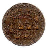 Médaille 37,5 Mm .Bataille De Porto Bello. Amiral VERNON.22/11/1739. - France
