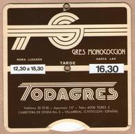 Disque De Stationnement TODAGRES - Villareal (Catellon, Espana) Disco De Estacionamiento - Transporto