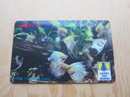 GPT Phonecard 37SRLJ Ocean Fishes, Used - Sri Lanka (Ceylon)