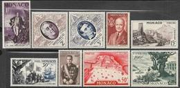 Monaco  1956  Sc#354-62   FIPEX Set Of 9   MH  2016 Scott Value $24 - Ungebraucht